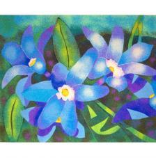 Flores Azules. 2 medidas disponibles