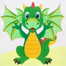 Dragón. 30x30 cm