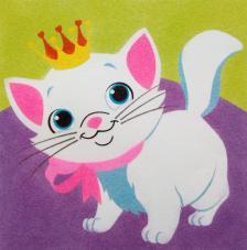 Gatito corona. 30x30 cm