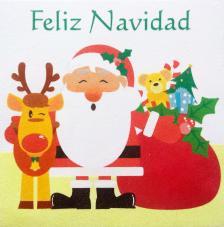 Regalos Papa Noel Feliz Navidad. 30x30 cm