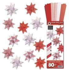 Kit quilling 40 estrellas tiras papel 5 mm