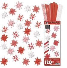 Kit quilling 30 estrellas papel 10 mm