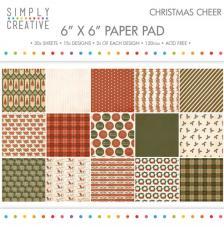 30 papeles 15,2 x 15,2 cm. Christmas Cheer