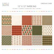 20 papeles 30,5 x 30,5 cm. Christmas Cheer