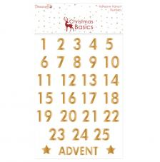 Advent números Oro Christmas Basics