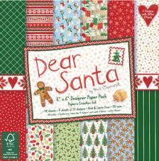 48 papeles 15,2 x 15,2 cm. Dear Santa