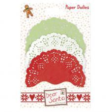 30 blondas de papel círculos. Dear Santa