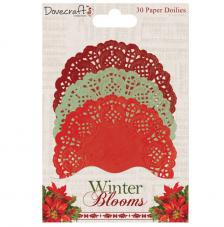 30 blondas de papel círculos. Winter Blooms