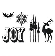 Troquel Framelit y sellos Sizzix. Holiday
