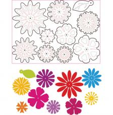 Sizzix Thinlits - Mix & Match Flowers