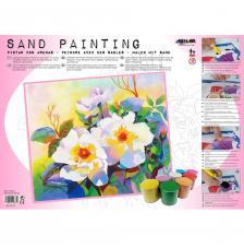 Sand Painting Flores Blancas