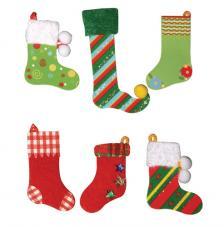 Deco stickers Calcetines Navidad