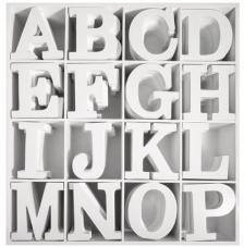 Dos expositores 192 letras y simbolos.