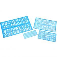 Blíster 3 plantillas rotular letras y números