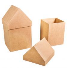 Kit 2 cajas casitas cartón