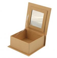 Caja cartón con espejo 9,5x9,5x4,5 cm