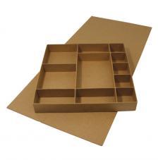 Caja montable cartón 32x31,5x4,5 cm