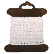 Cinta de algodon blanco Amanda 1cm x 3 m