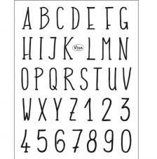 Sello de Silicona 14x18 cm. Modelo 155. Alfabeto