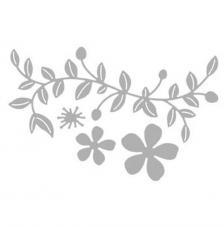 Troquel Ramita con flores.11,5 cm