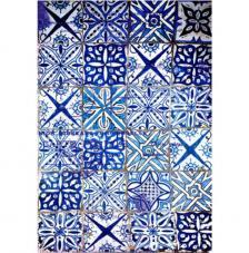 Papel Arroz Azulejos Azules 30x41 cm