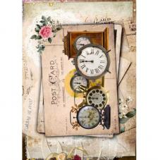Papel Arroz Relojes Post Card 30x41 cm