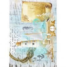 Papel Arroz Marina Faro 30x41 cm
