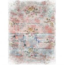 Papel Arroz Corazón Rosa Impresa 30x41 cm