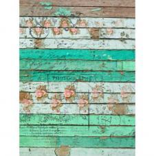 Papel Arroz Madera Verde 30x41 cm