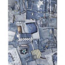Papel Arroz Recortes Jeans 30x41 cm