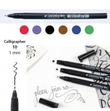 Rotulador punta caligrafia 1 mm. 6 colores