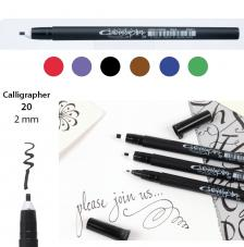 Rotulador punta caligrafia 2 mm. 6 colores