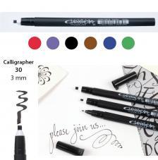Rotulador punta caligrafia 3 mm. 6 colores