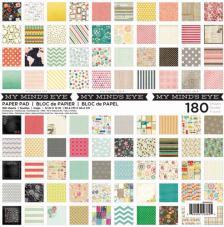 180 papeles 30,5 x 30,5 cm. My Mind's Eye