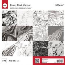 24 papeles 30,5 x 30,5 cm. Marmol