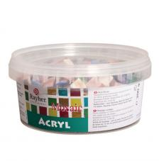 Mosaico Acrílico colores Mármol 1x1 cm 300 gr.