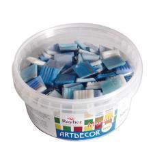 Teselas resina Deluxe tonos azules 2x2cm.160 pzas