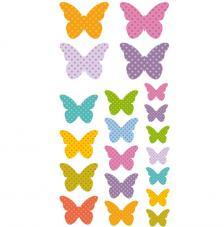 Set figuras adhesivas Mariposas 3D.