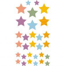 Set figuras adhesivas Estrellas 3D.