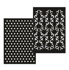 kit 2 plantillas stencil adhesivas A5. modelo 4