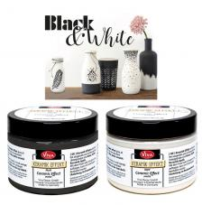 Pintura efecto cerámica 150 ml. Black & White