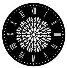 Stencil Reloj Mandala Ø 28 cm
