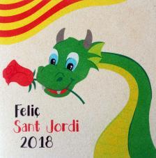 Sant Jordi 2018. 30x30 cm