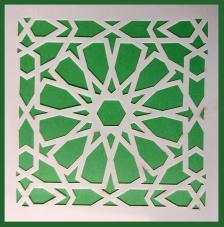 Stencil Mosaico 2 15x15 cm