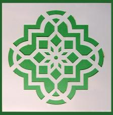 Stencil Mosaico 3 15x15 cm