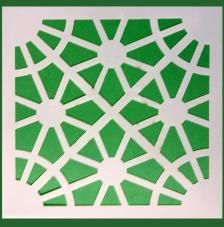 Stencil Mosaico 9 15x15 cm