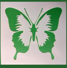 Stencil Mariposa 12 15x15 cm