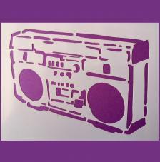 Stencil Radio 15x20 cm