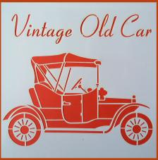 Stencil Vintage Old Car 20x20 cm