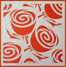 Stencil Rosas 5 20x20 cm